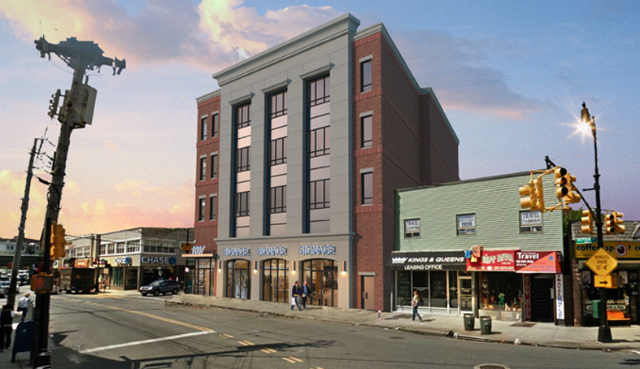 1607 Sheepshead Bay Road, rendering by Tricarico Architecture