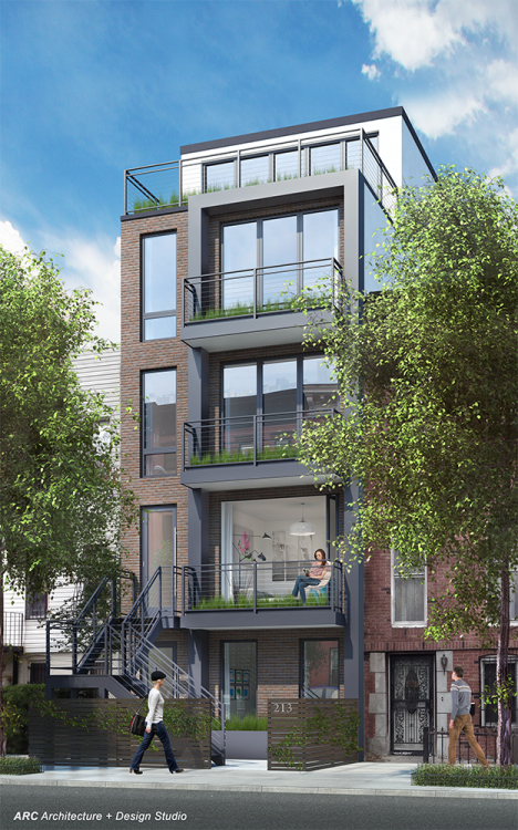 213 Halsey Street, rendering by ARC