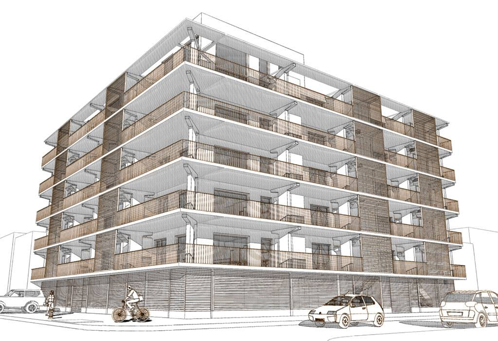 651 New York Avenue, rendering from Loadingdock5