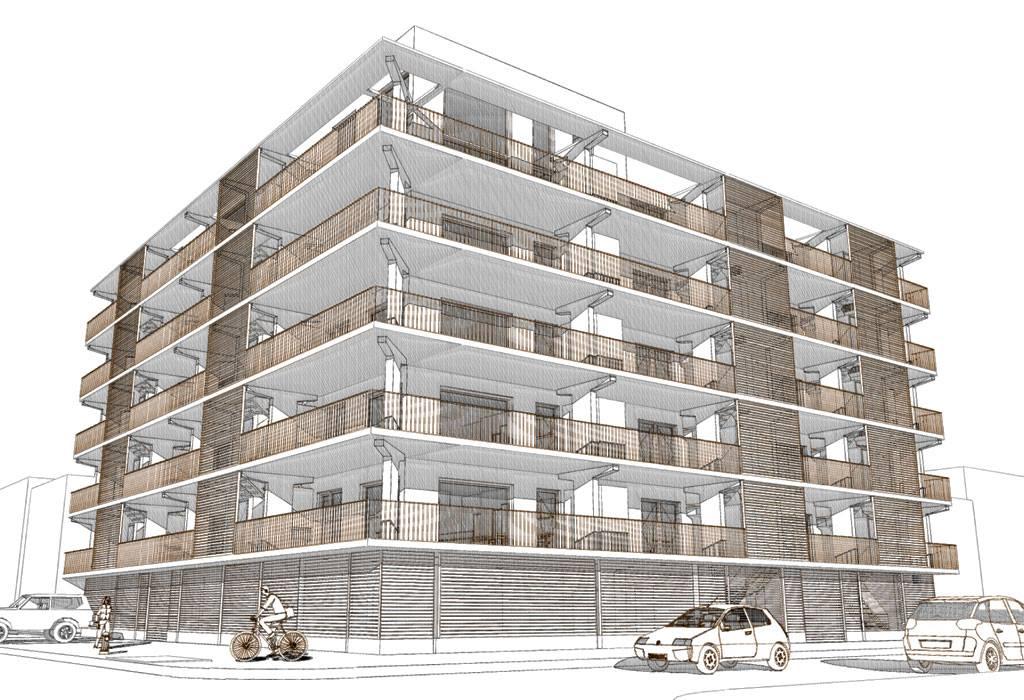 651 New York Avenue, rendering from Loadingdock5