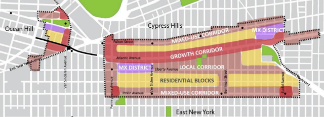 The administration's East New York rezoning proposal