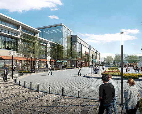 Staten Island Mall expansion (view from new Richmond Avenue entrance), rendering from S9