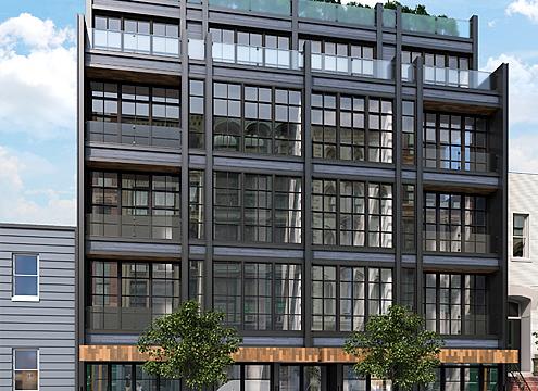 245 Manhattan Avenue, rendering from Mortar