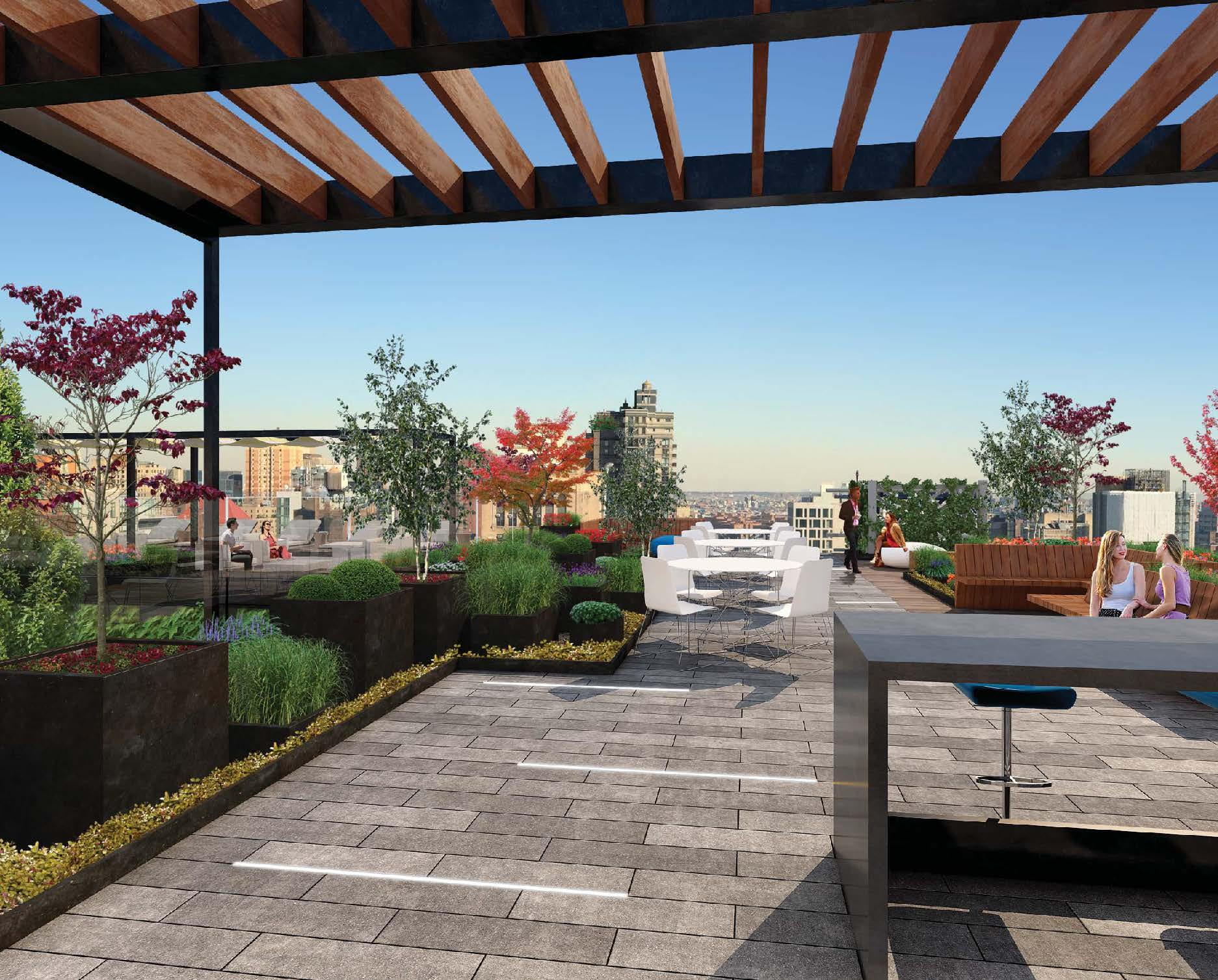 new look roof deck for a century old office building at 300 park