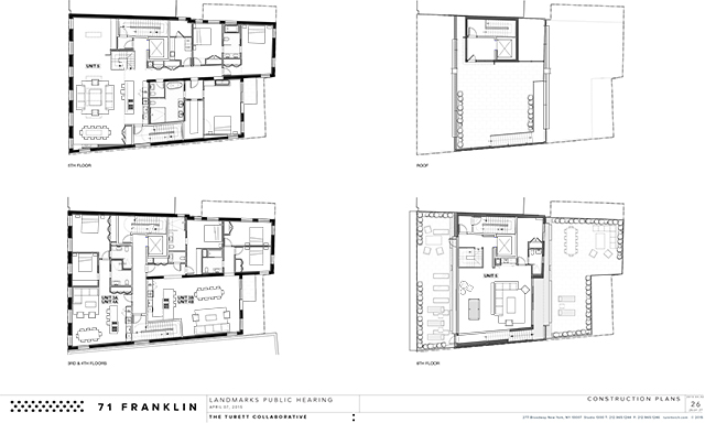 Plans for 71-73 Franklin Street