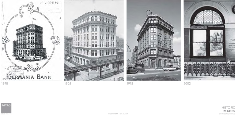 Historic images of 190 Bowery