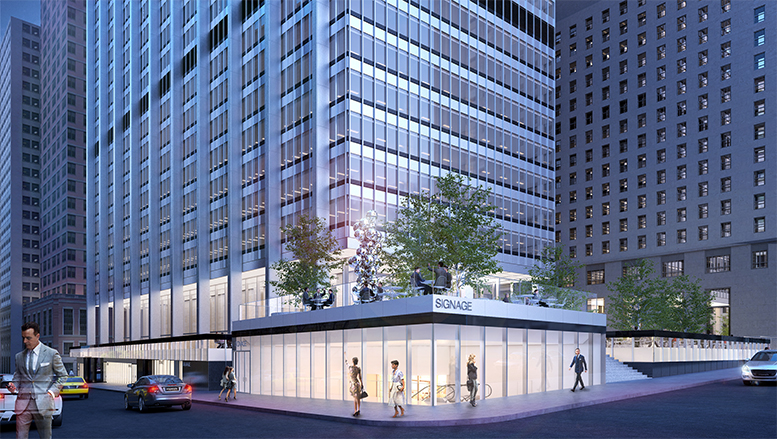 28 Liberty Street, proposed northwest corner. Credit: SOM