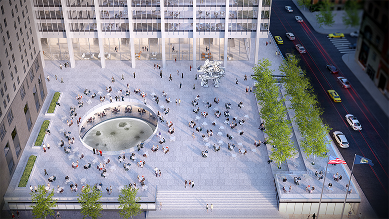 28 Liberty Street, proposed south plaza. Credit: SOM