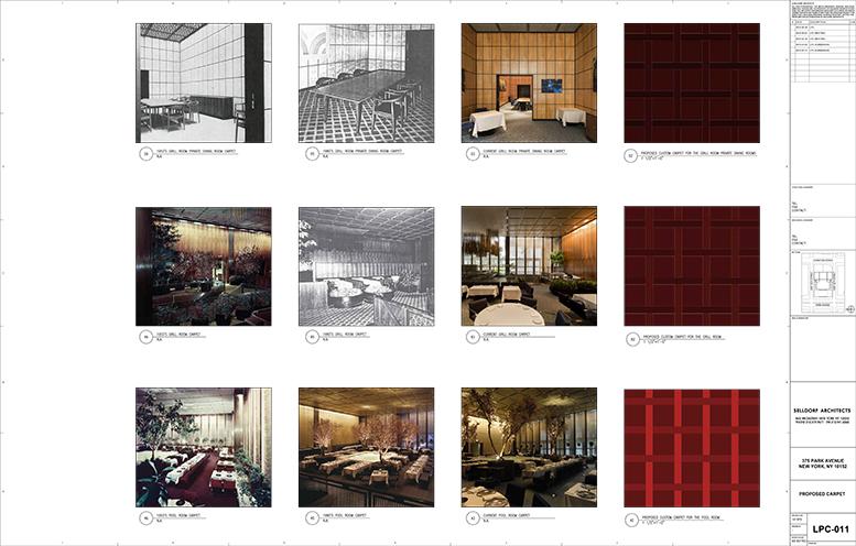 Carpeting Samples for the Four Seasons Restaurant
