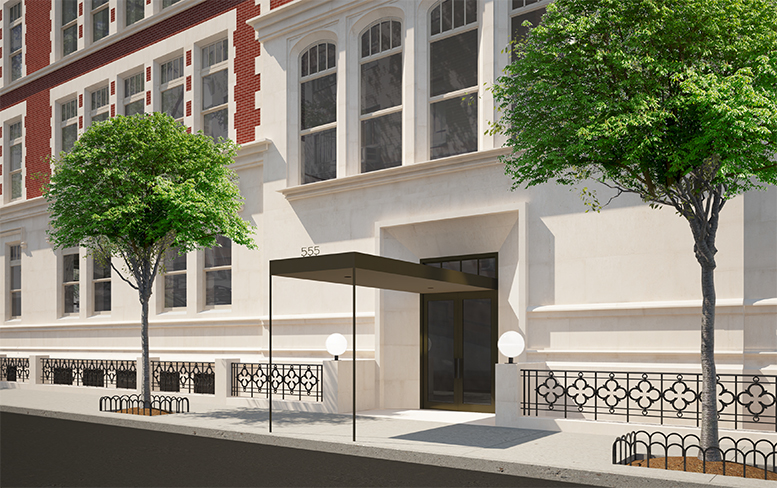 Proposed 87th Street entrance for 555 West End Avenue