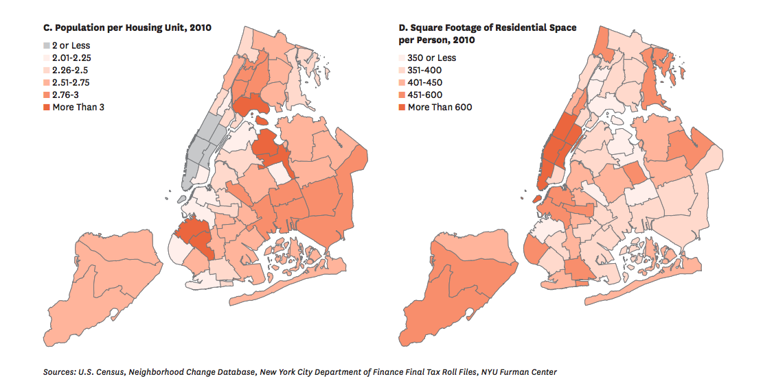 housing density charts furman center