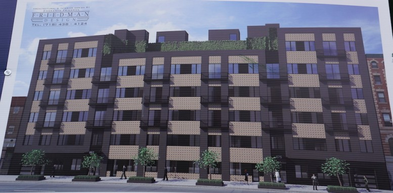 Construction rendering for 875 Dekalb Avenue