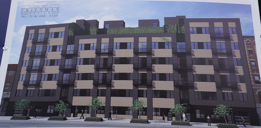 Construction rendering for 875 Dekalb Avenue