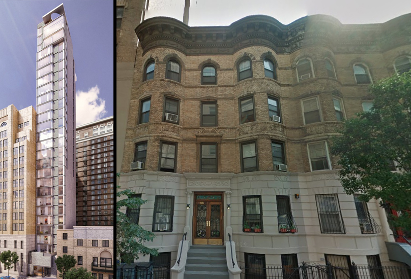 88 Schermerhorn Street before/after, images by Think Architecture and Design/Google Maps