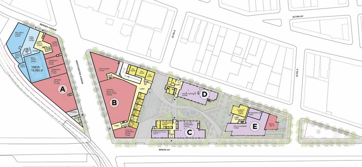la central site plan 2 fxfowle