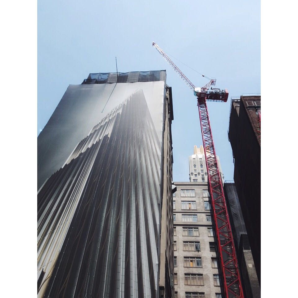 Tower Crane Ny : Tallest freestanding tower crane in nyc history up at