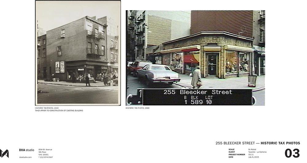 Historic Images of 255 Bleecker Street