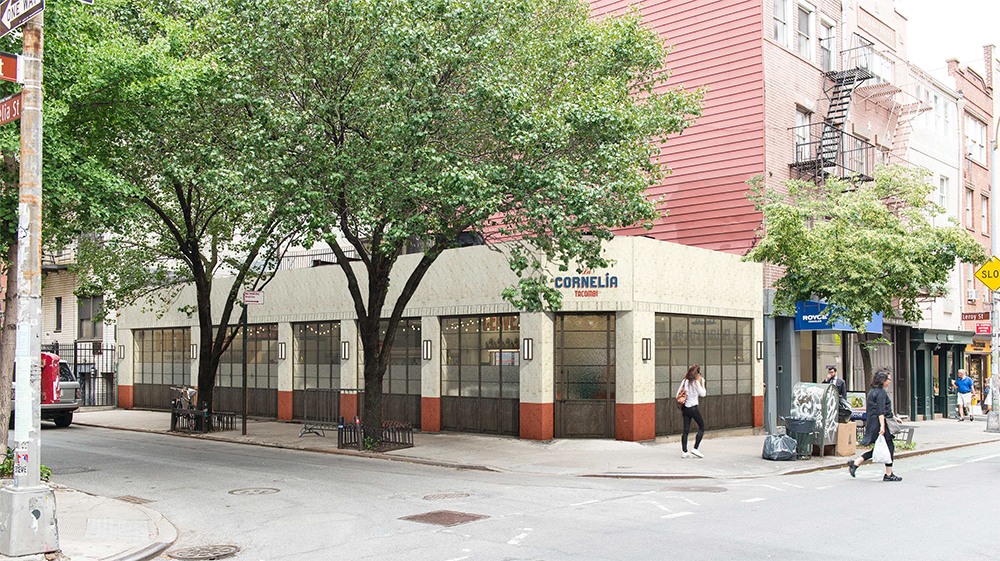255 Bleecker Street, with windows closed. Colors not final.