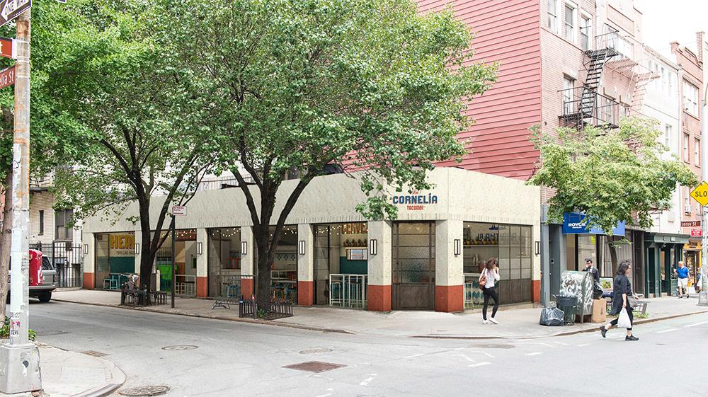 255 Bleecker Street, with windows open. Colors not final.