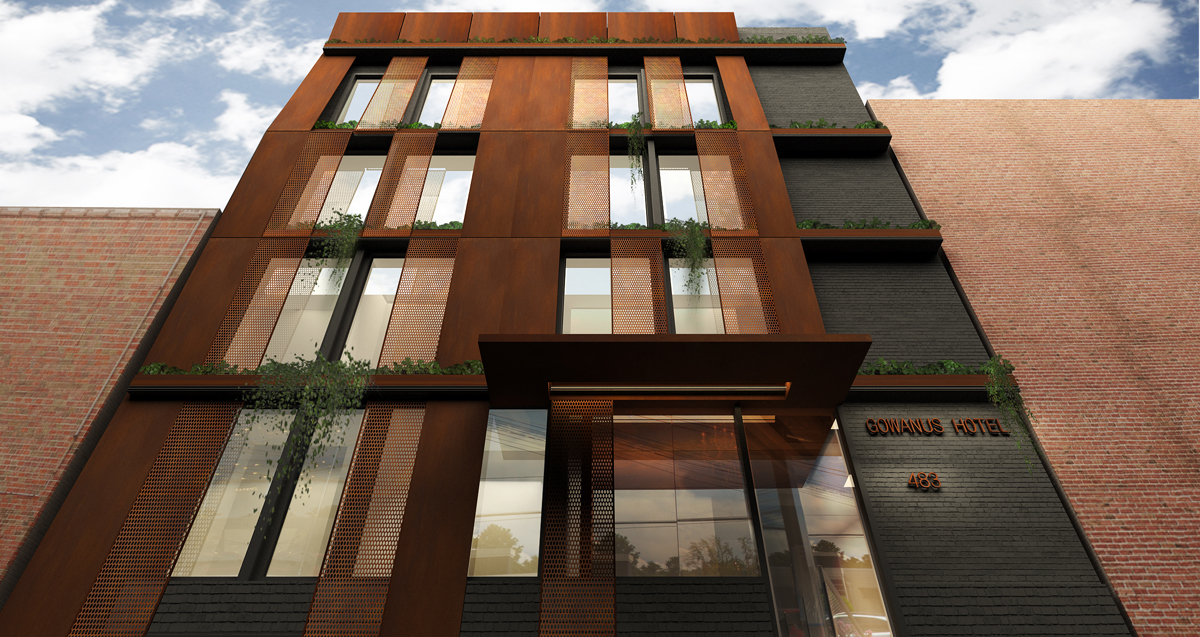 489 Baltic Street, rendering by Gradient Architecture Studio