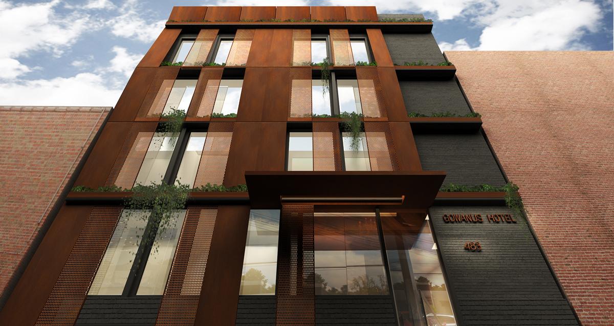 489 Baltic Street, rendering by Gradient Architecture Studio