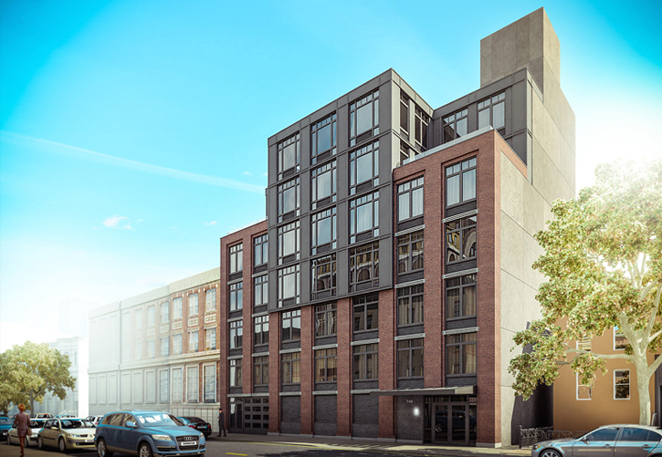 740 Dekalb Avenue, rendering by Issac and Stern Architects