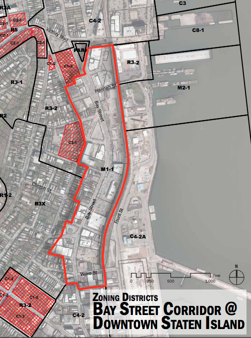 Bay Street Corridor, map by Department of City Planning