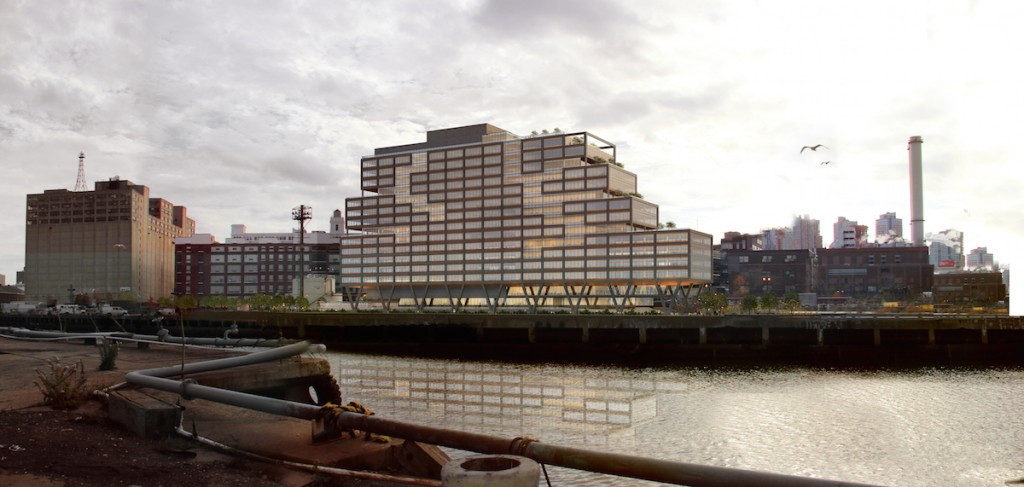 WeWork's Dock 72 at the Brooklyn Navy Yard, rendering by S9 Architecture