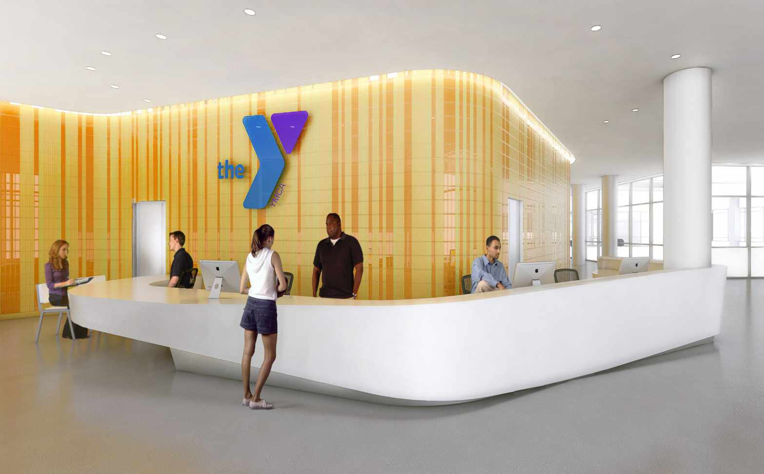 The YMCA at La Central, rendering by FXFOWLE