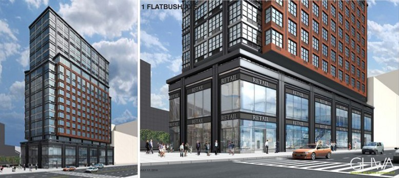 One Flatbush Avenue, rendering by Goldstein, Hill and West Architects