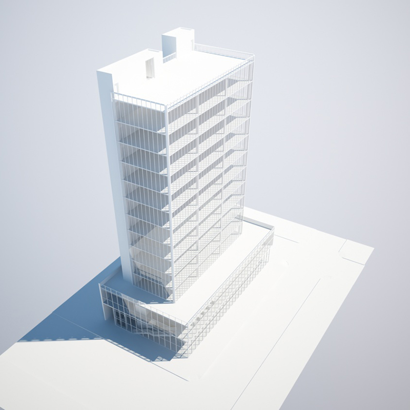 100 East Broadway, rendering by Studio C Architects