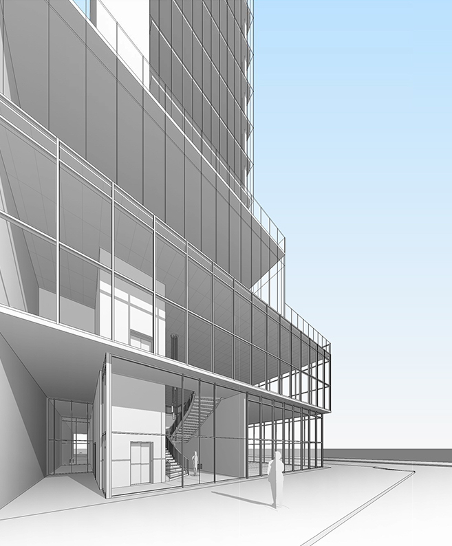 100 East Broadway, rendering by Studios C Architects