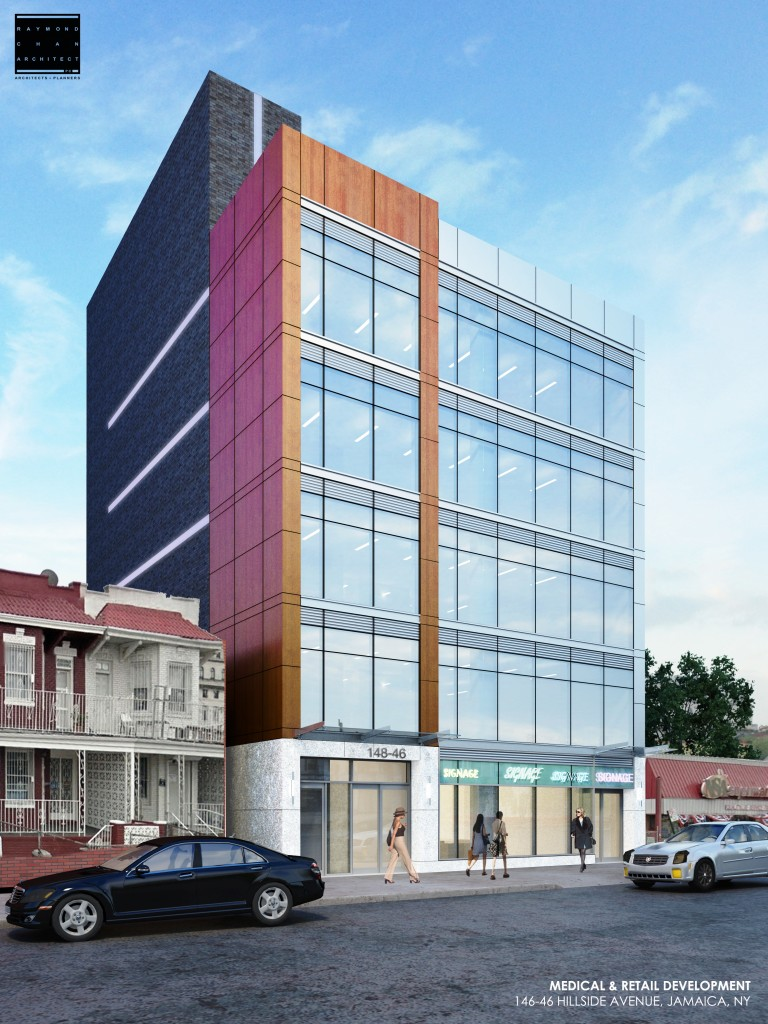 148-46 Hillside Avenue, rendering by Raymond Chan Architects