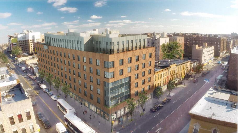 310 Clarkson Avenue, rendering by Jonathan Kirschenfeld Architect via Hudson