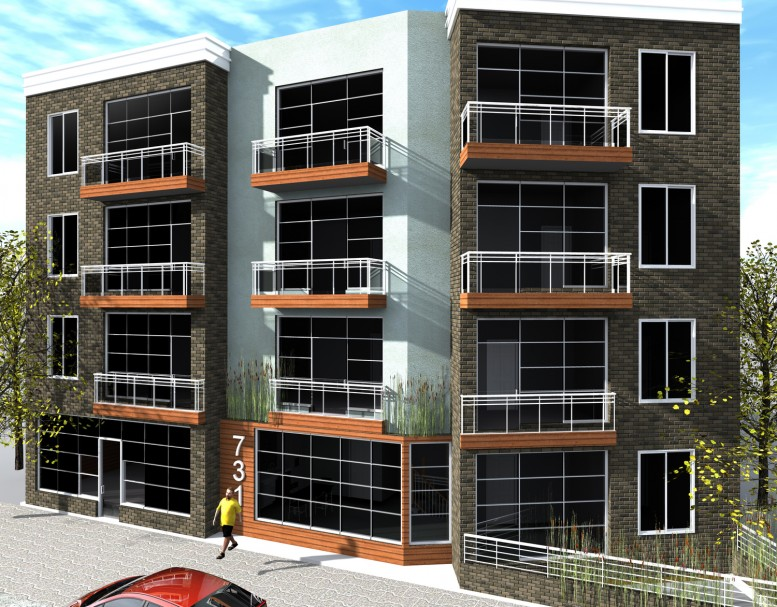 731 Bergen Street, rendering by BizDesigns LLC