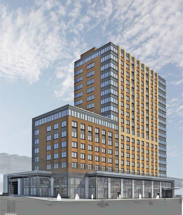 Yankee Hill Apartments: Reveal For 17-Story, 134-Unit Mixed-Use Building At 810