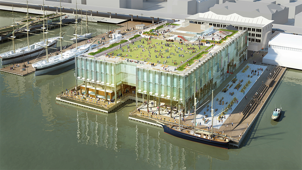 Rendering of Pier 17 without canopy