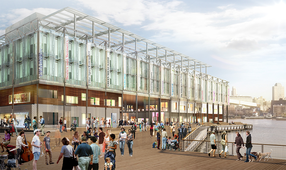 Rendering of Pier 17 without the Link Building