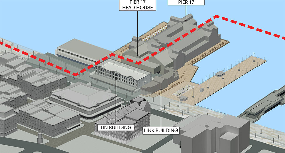 Pier 17 schematic, pre-demolition.