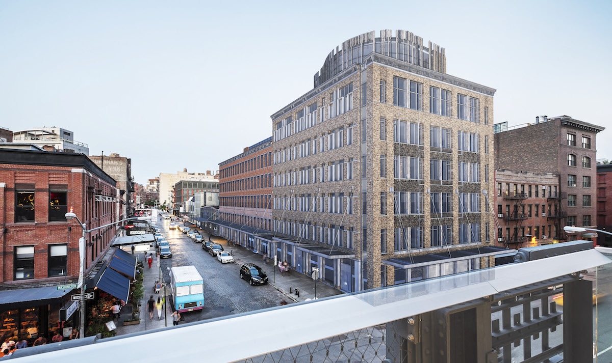 View of 46-74 Gansevoort Street from the High Line, rendering by BKSK Architects