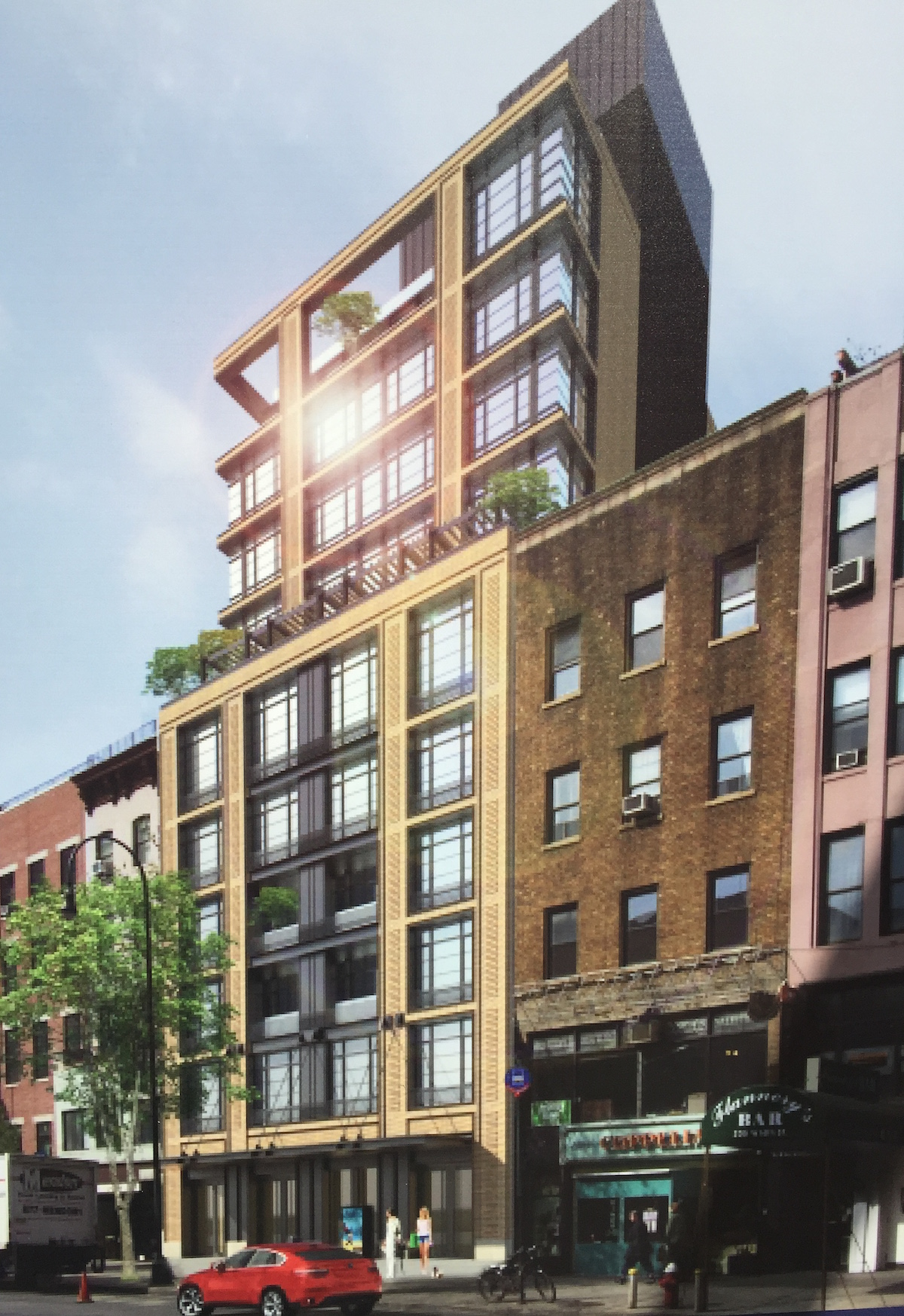 Construction rendering of 209 West 14th Street, photo by tipster
