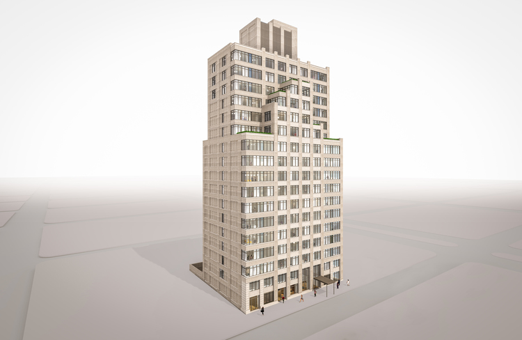 269 West 87th Street, rendering by FxFowle Architects
