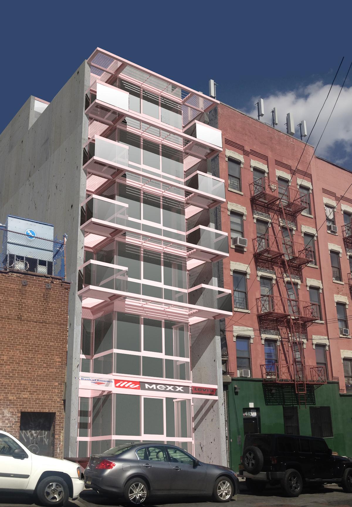 411 East 151st Street, rendering by Hany Rizkalla