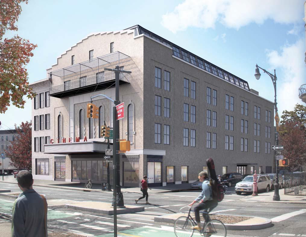 Approved design for the Pavilion cinema building.