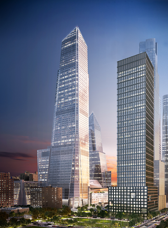 30 Hudson Yards, rendering by Kohn Pedersen Fox