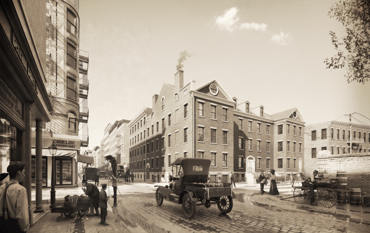 34 Prince Street in the early 1900s, rendering by Marvel Architects