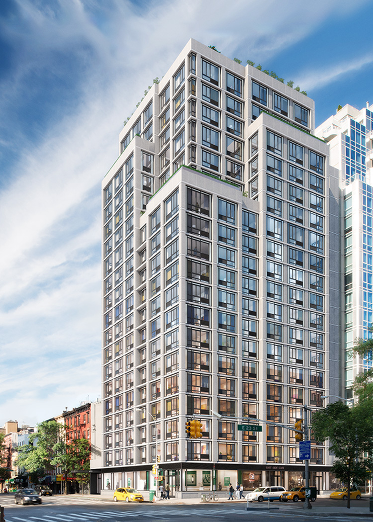 Rendering of 385 First Avenue via Magnum Real Estate Group
