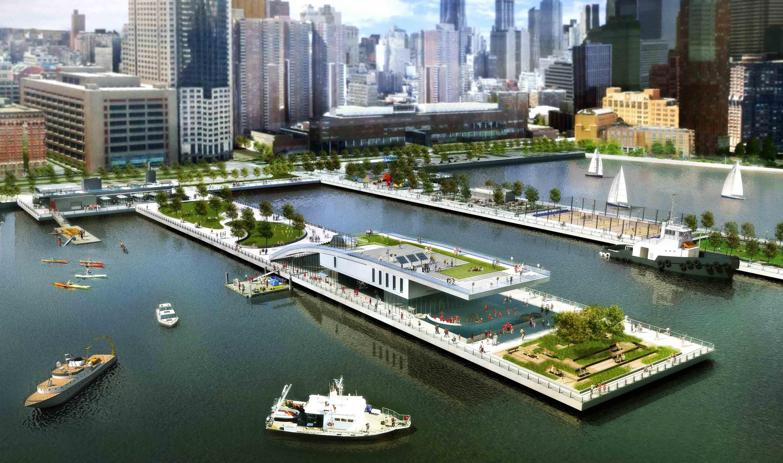 Rafael Vi oly OLIN To Design Pier 26 Estuarium Park Space Tribeca N