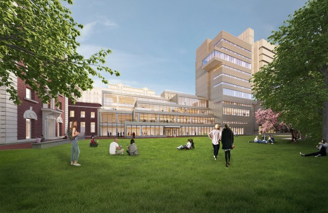 Barnard's New Teaching and Learning Center, rendering by SOM via Barnard