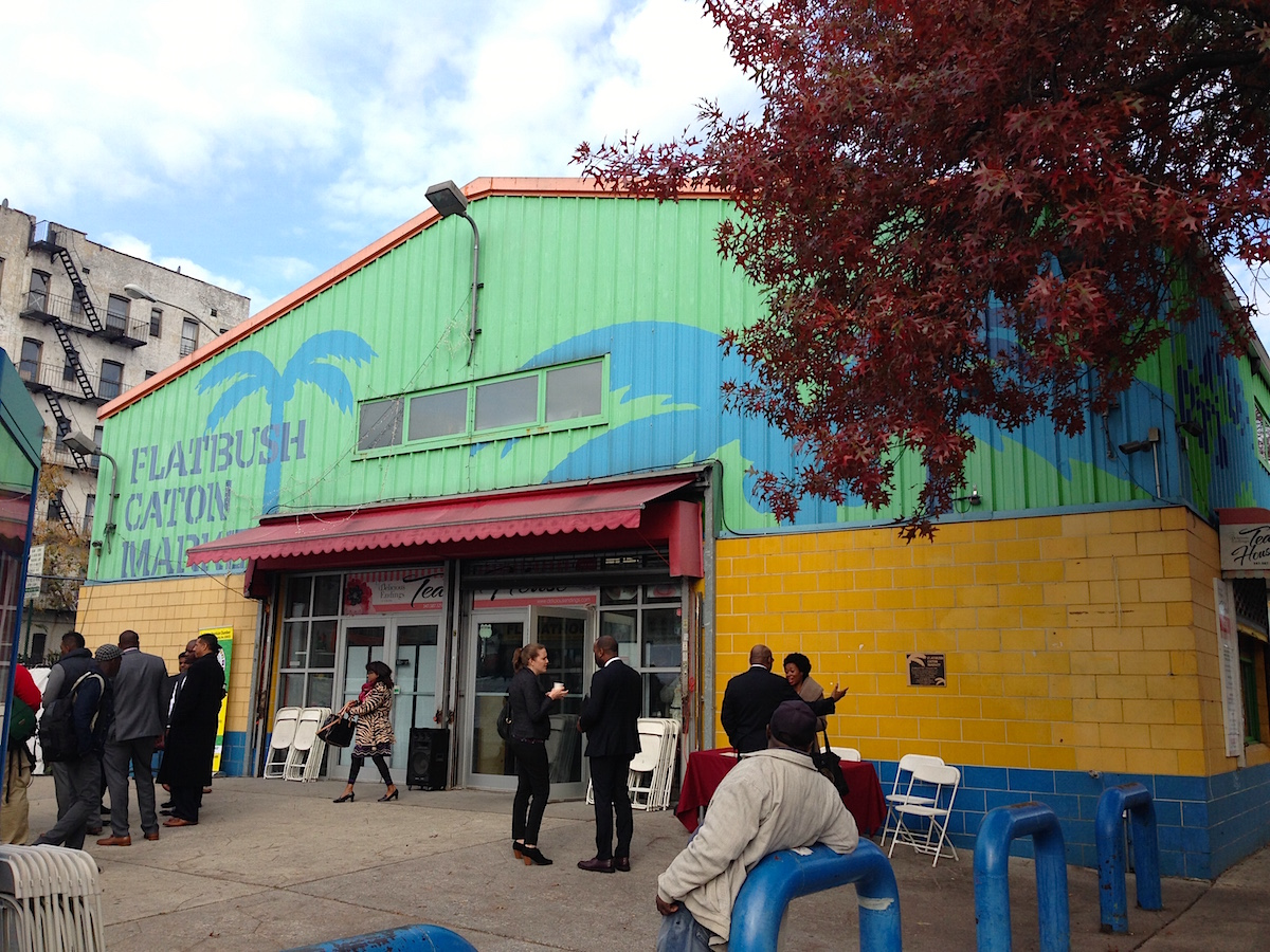 The former Flatbush-Caton Market in Flatbush, Brooklyn